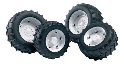 Шины Bruder для сдвоенных колёс с белыми дисками 4 шт. 10,4 см