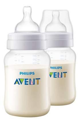 Детская бутылочка Philips Avent Classic+ SCF563/27, 260 мл, 2 шт., 1 мес.+