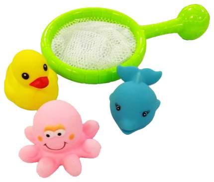 Веселое купание. сачок с 3-мя животными для ванной pt-00535