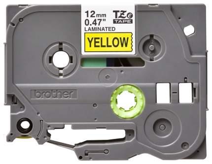 Лента для печати наклеек Brother TZe-631 Black on yellow 12 мм