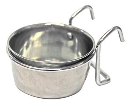 Одинарная миска для кошек и собак Хорошка, металл, серебристый, 0.15 л