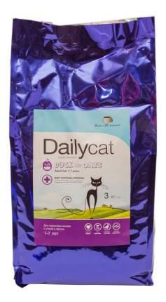 Сухой корм для кошек Dailycat Adult, утка и овес, 3кг
