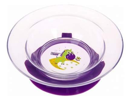 Тарелка детская Lubby Русские Мотивы фиолетовый