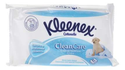 Туалетная бумага Kleenex CleanCare влажная листовая (сменный блок) 42 шт.