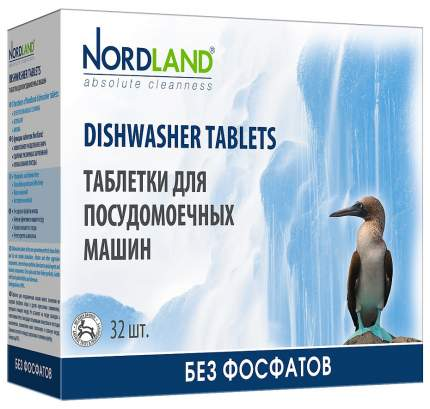 Таблетки для посудомоечной машины Nordland для всех типов машин 32 штуки