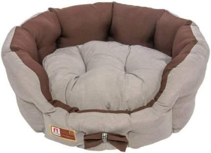 Лежанка для кошек и собак ЗООГУРМАН 45x45x15см коричневый