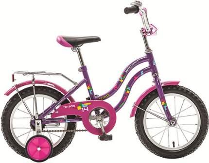 Велосипед Novatrack 20 (2017), с багажником, фиолетовый (201TETRIS.VL7)