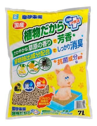 Комкующийся наполнитель Japan Premium Pet кукурузный, луговые травы, 2.9 кг, 7 л