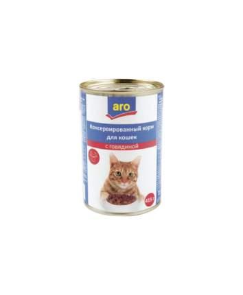 Консервы для кошек ARO, мясное ассорти, 415г