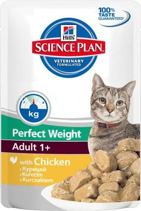 Влажный корм для кошек Hill's Science Plan Perfect Weight, курица, 85г