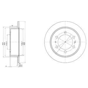Тормозной диск DELPHI BG3522