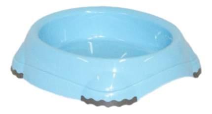 Одинарная миска для кошек MODERNA, пластик, голубой, 0.21 л