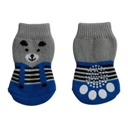Носки для собак Triol размер XL, 2 шт серый, синий