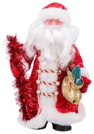 Кукла декоративная Яркий праздник Дед Мороз Красный 30 см