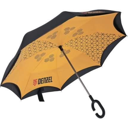 Зонт-трость механический Denzel 69706 оранжевый/черный