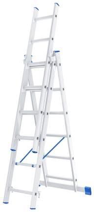 Лестница, 3 х 6 ступеней, алюминиевая, трехсекционная // СИБРТЕХ // Pоссия 97816