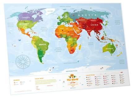 Географическая карта 1DEA.me Travel Map Kids Sights