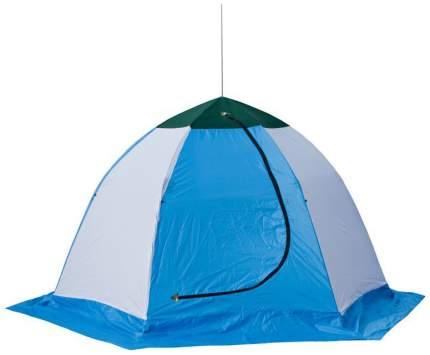 Палатка-полуавтомат Стэк Elite двухместная белая/синяя
