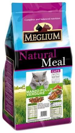 Сухой корм для кошек Meglium Adult, говядина, курица, овощи, 15кг