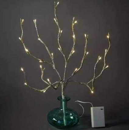 """Kaemingk Букет """"Золотая веточка"""", на батарейках, 50 см, 30 LED ламп, теплый белый 482203"""