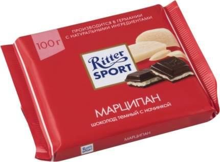 Шоколад тёмный Ritter Sport с начинкой марципан 100 г