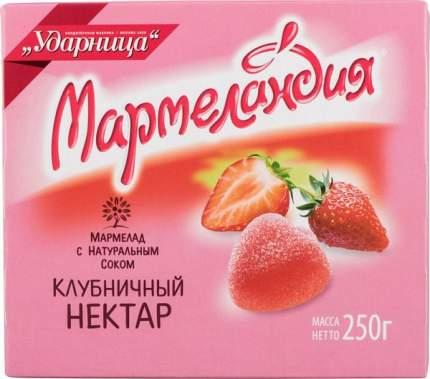 Мармелад  Мармеландия с натуральным соком клубничный нектар 250 г
