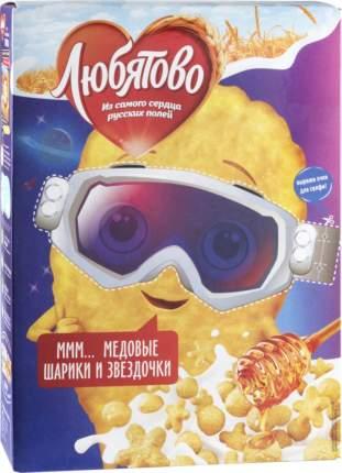 Готовый завтрак Любятово медовые шарики и звездочки 200 г