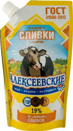Сливки сгущенные Алексеевские 19% с сахаром 270 г