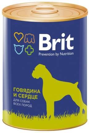 Консервы для собак Brit, говядина и сердце, 6шт, 850г