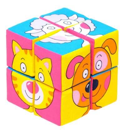 Кубики мягкие Зверята 8 шт. Собери картинку Мякиши Р78132