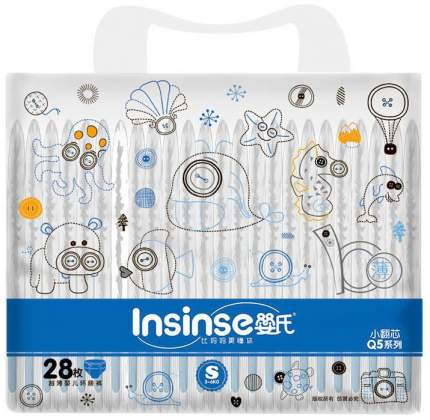 Подгузники Insinse Q5 3-6 кг S 28 шт