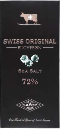 Шоколад горький 72% Swiss original Boucheron с морской солью 100 г