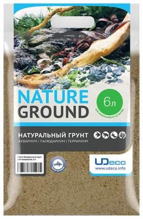 Натуральный песок для аквариумов и террариумов UDeco River Light, бежевый 0,1-0,6 мм, 6 л