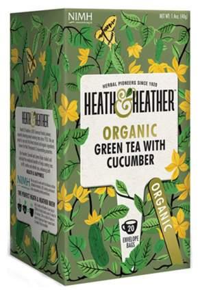 Чай зеленый Heath&Heather с огурцом органик 20 пакетиков