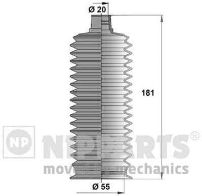Пыльник рулевой рейки Nipparts J2842026