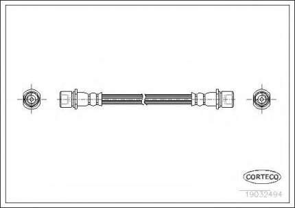 Шланг тормозной системы Corteco 19032494