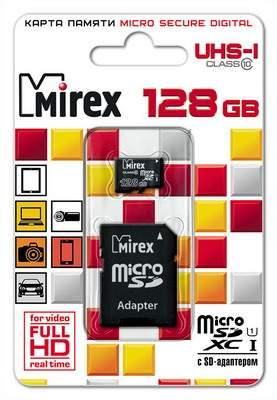 Карта памяти MIREX Micro SDХC 128GB