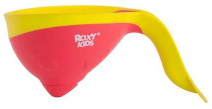 Ковшик для купания Roxy-Kids Flipper с лейкой Коралловый