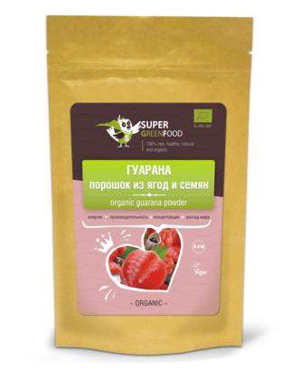 Гуарана порошок из ягод и семян Super Green 100 г