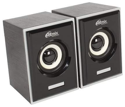 Колонки компьютерные RITMIX SP-2090w Black 2,0, 2x3 Вт, 20-18000 Гц, mini Jack, USB