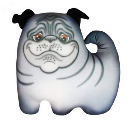 Игрушка-антистресс СПИ Собака Мопсик серая