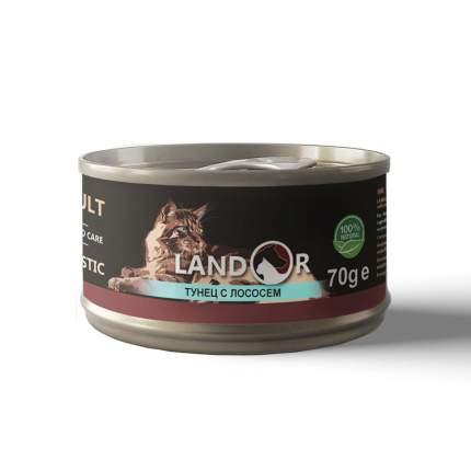 Консервы для кошек Landor, тунец с лососем, 70г