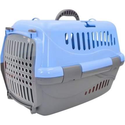 Переноска для животных HOMEPET, голубая, 48х32х32 см