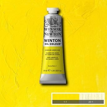 Масляная краска Winsor&Newton Winton лимонный кадмий 37 мл
