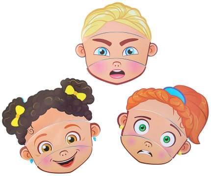 Набор игрушек для ванны «Изучаем эмоции»: пазлы из EVA, 3 шт. Крошка Я