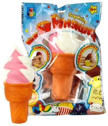 """Игрушка-антистресс """"Мммняшка Флок Squishy"""" - Мороженое рожок, 10 см 1TOY"""