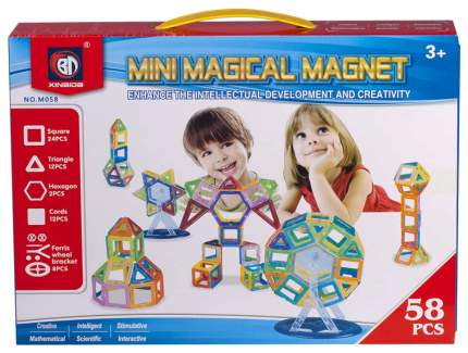 Магнитный конструктор Mini Magical Magnet, 58 деталей