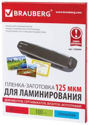 Пленка-заготовка для ламинирования, 125 мкм, А5, 100 штук