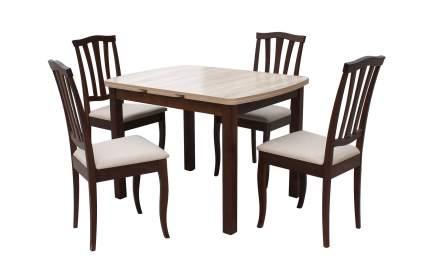 Обеденная группа для столовой и гостиной Mebwill Орлеан Сити Орех темный / Дуб Сонома