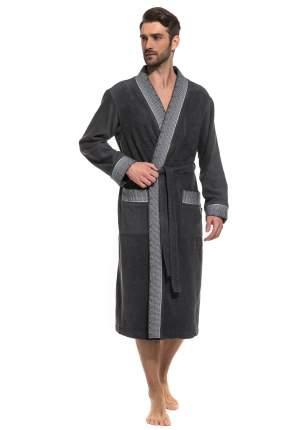 Мужской махровый халат Idealiste Peche Monnaie France 939, темно-серый, XL